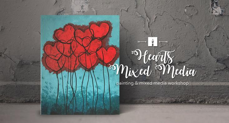 Hearts Mixed Media