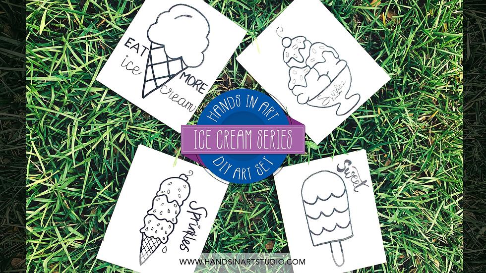 Ice Cream DIY Art Set