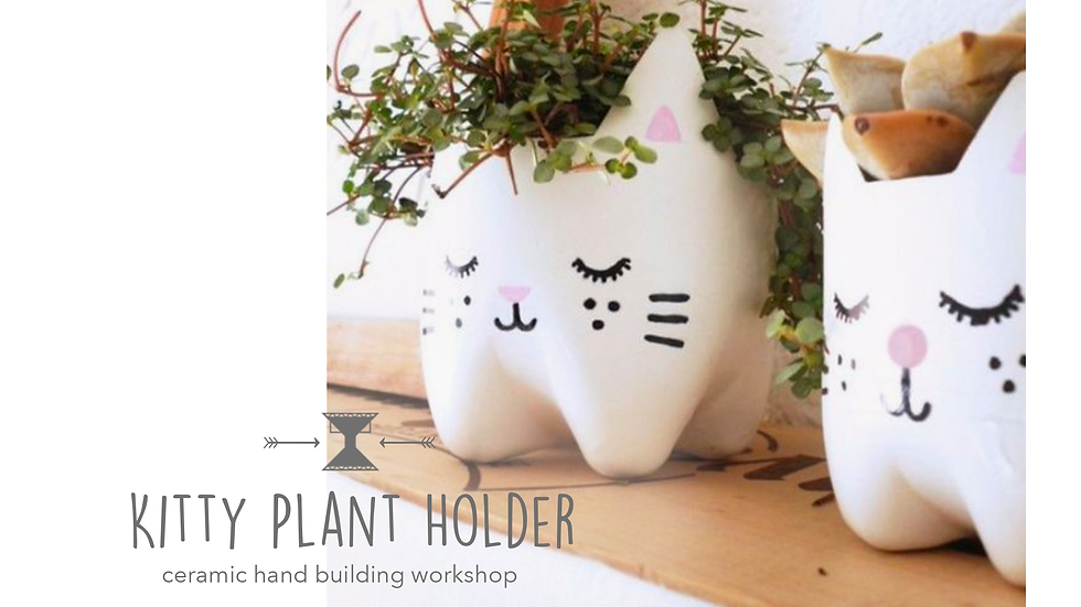 Kitty Plant Holder