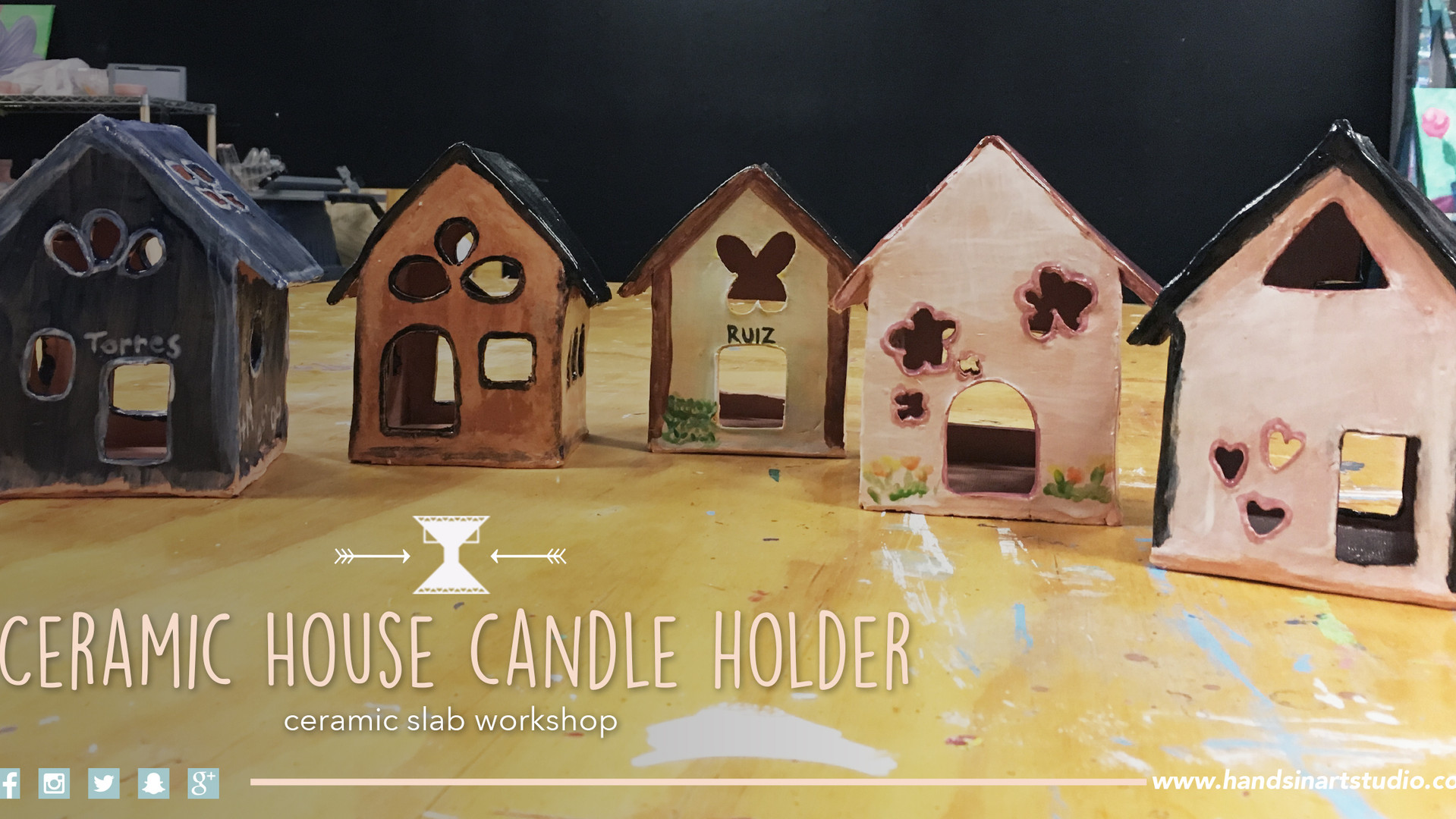 Ceramic House Candle Holder