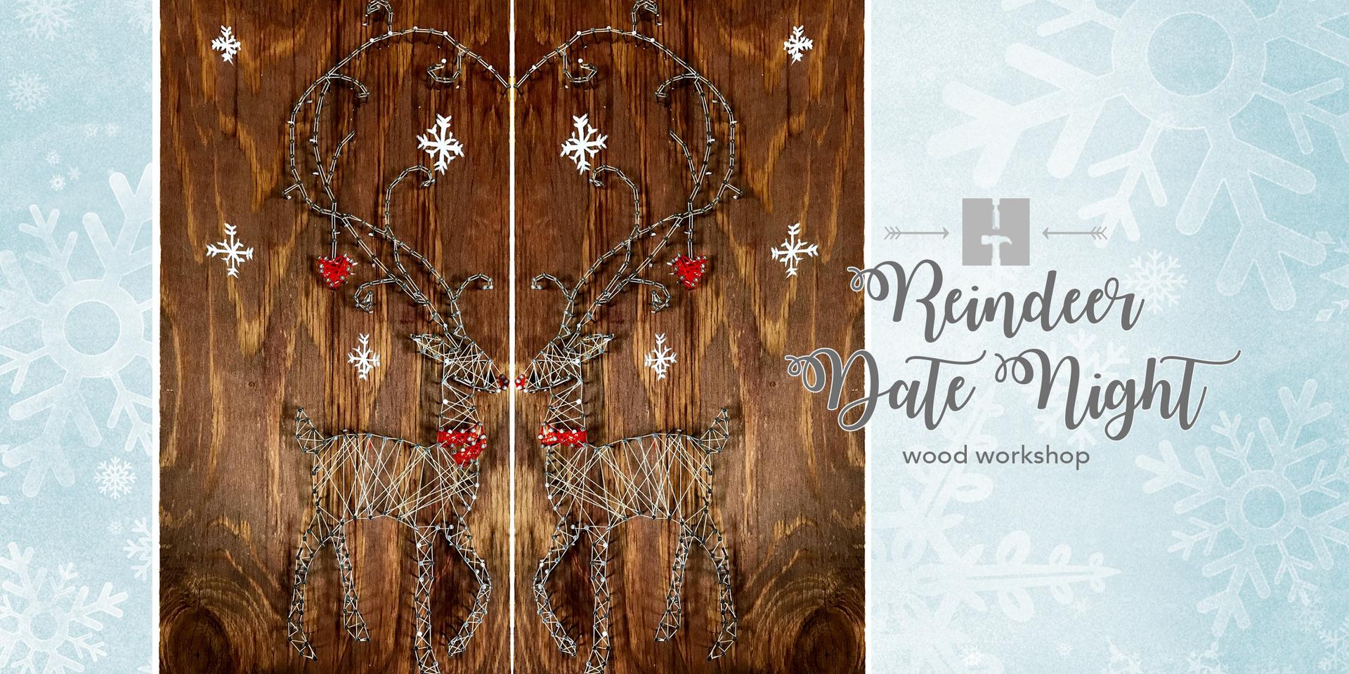 Reindeer Date Night String Art