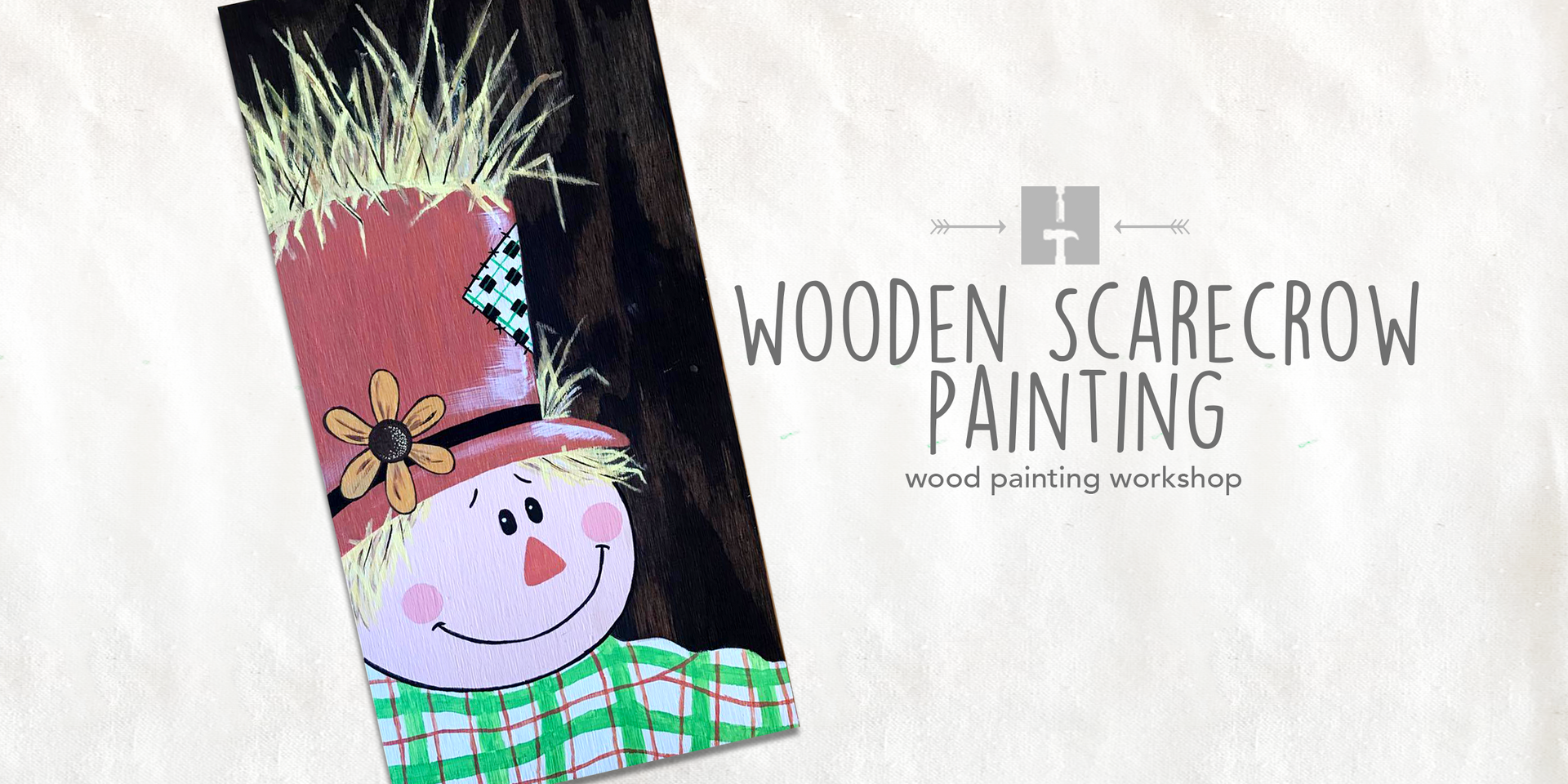 Woden Scarecrow Painting
