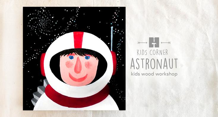 Astronaut on Wood