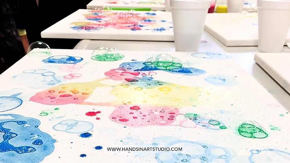 Bubble Painting Art Kit