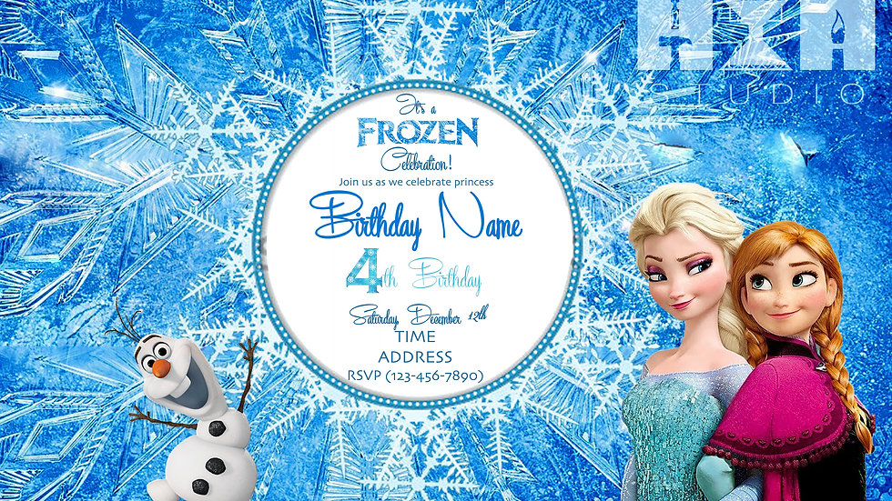 Frozen Invite | Digital File