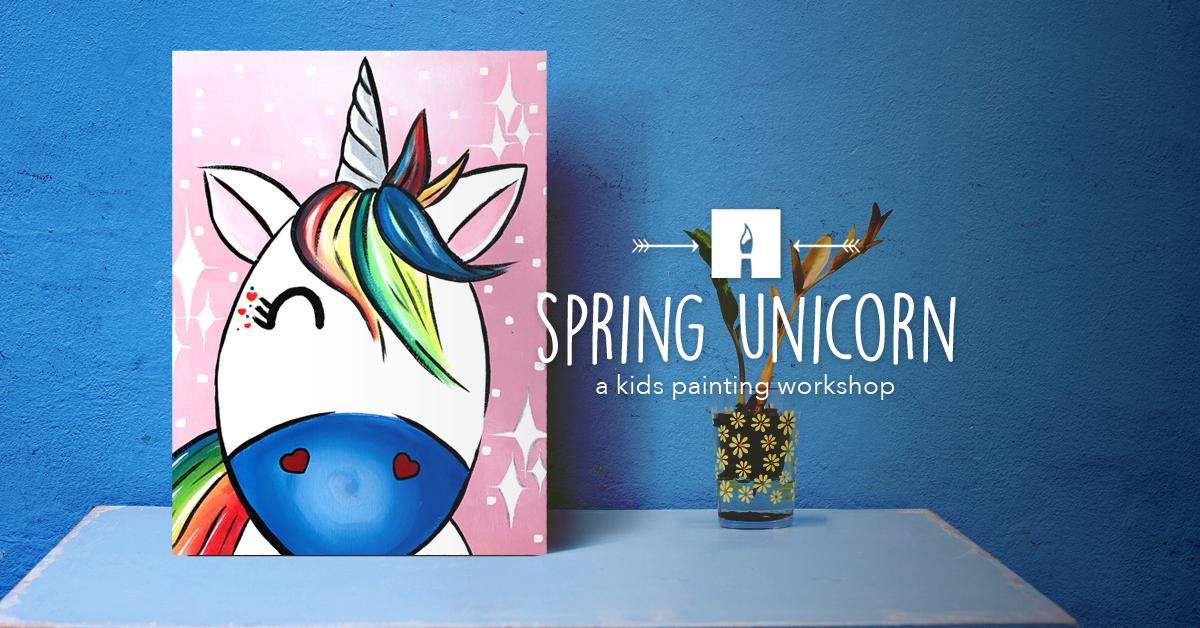 KIDS CORNER Paint Spring unicorn.png