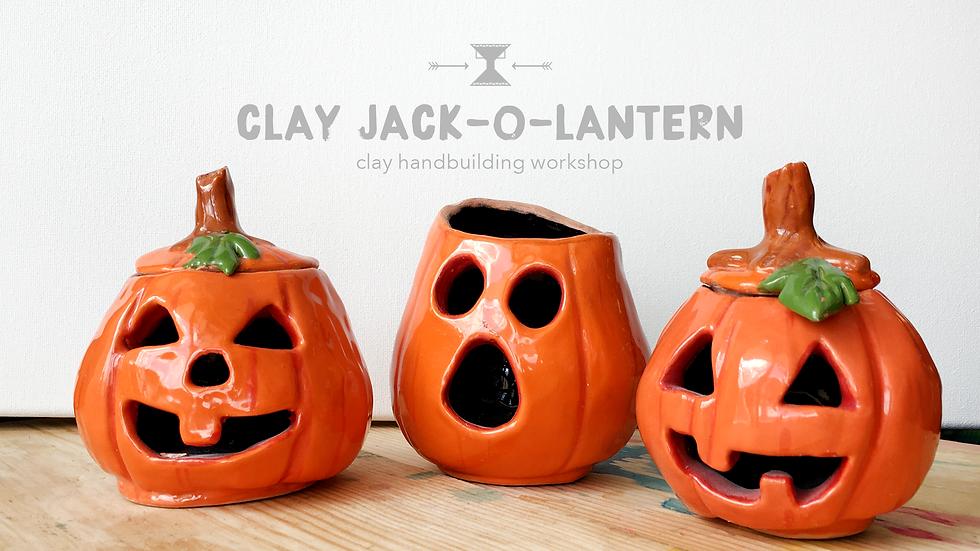 Clay Jack-o-lantern