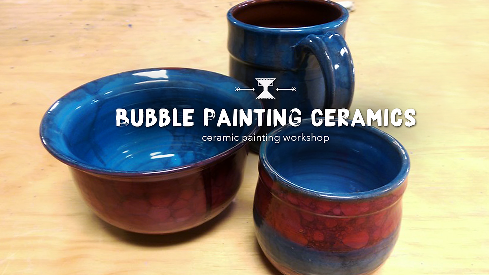 Bubble Painting Ceramics
