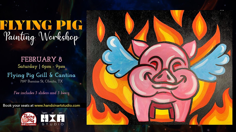 Flying Pig Painting Workshop