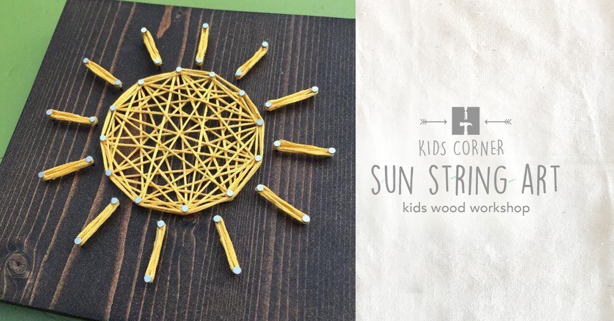 Sun String Art