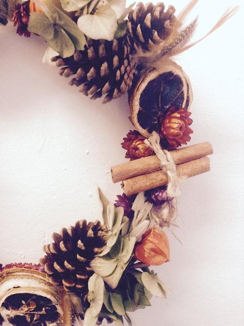 Dried Xmas Wreath