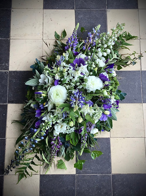 Eco Sympathy 3ft Coffin Top Arrangement