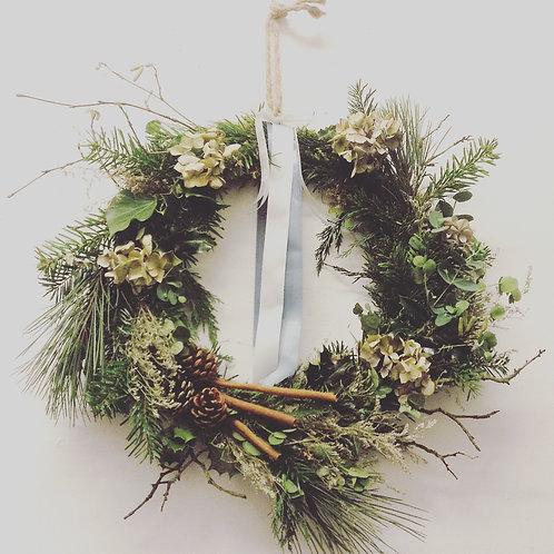 Scandi Style Xmas Wreath