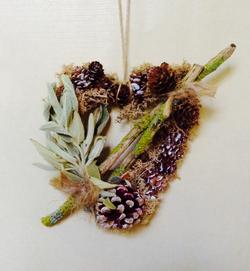 woodland floor mini wreath