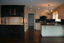 Kitchen with Dark Floor Stain