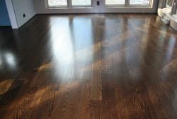 White oak floor refinish.