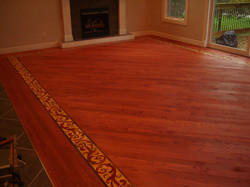 Lester Great Room Installed w/stain