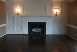 Fireplace with Dark Hardwood FLoors
