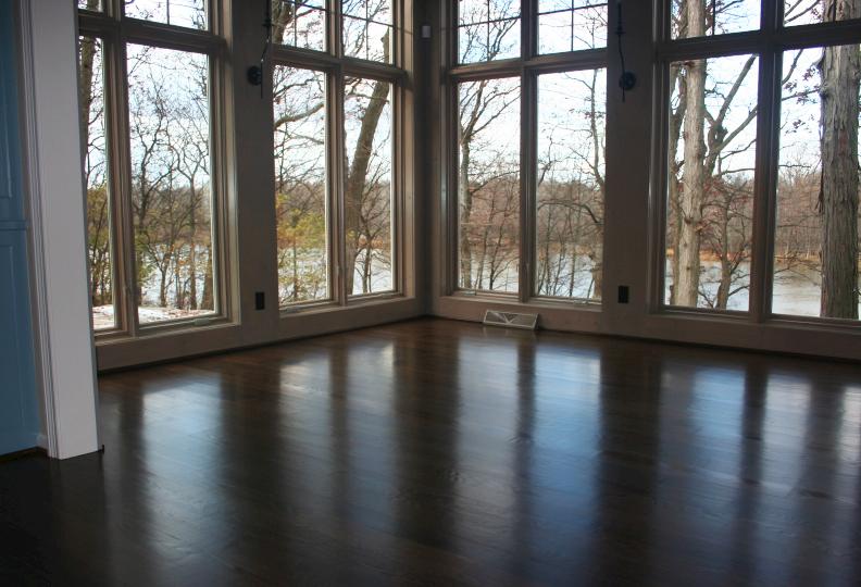 Sun Room Hardwood Floor Refinish
