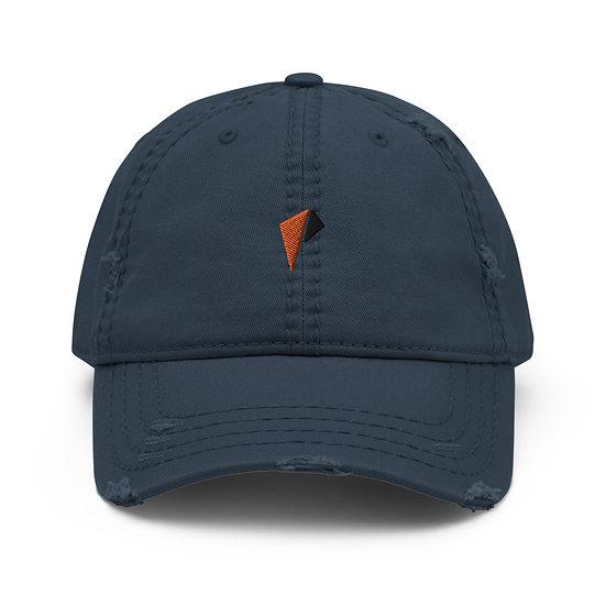 Orange and Black Logo Distressed Dad Hat