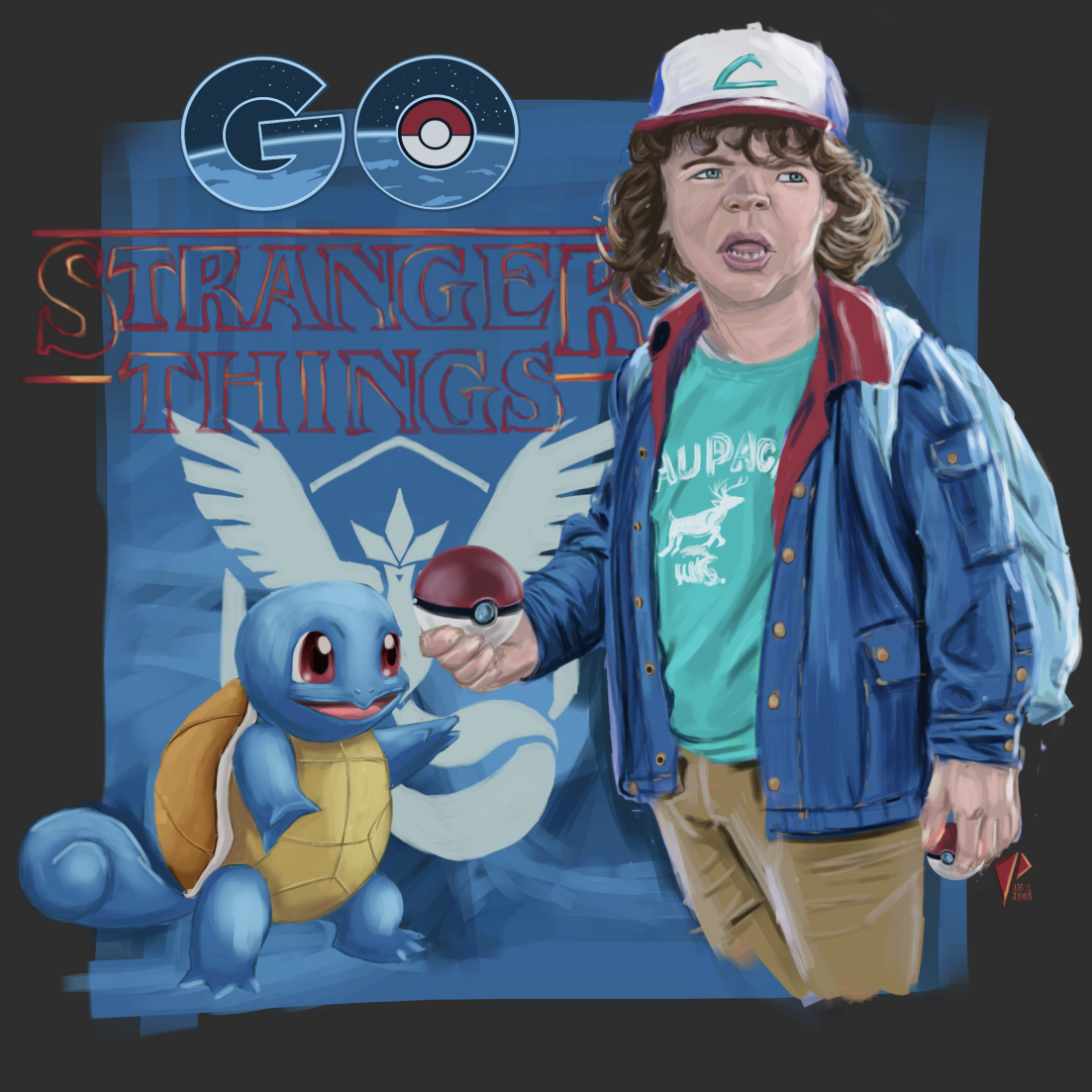 Dustin w/ Squirtle