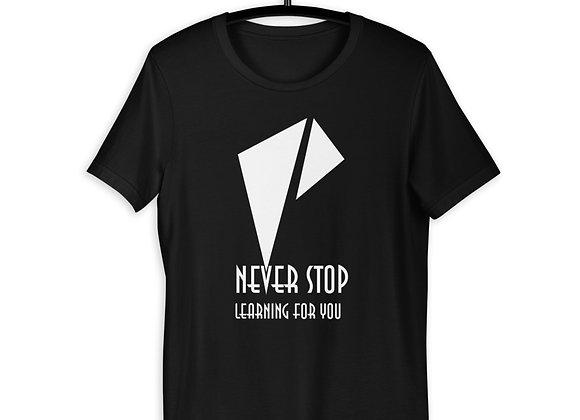 White NSLFY Short-Sleeve Unisex T-Shirt