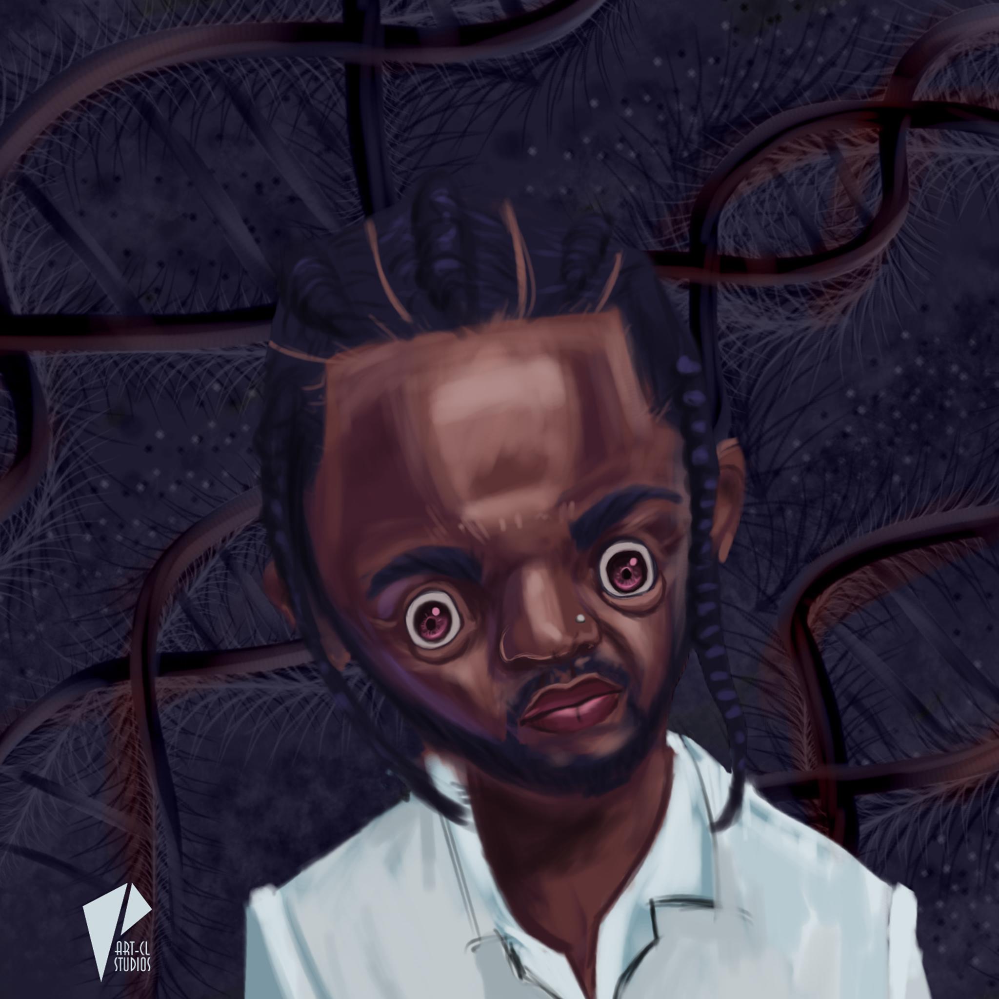 Caricature Kendrick Lamar