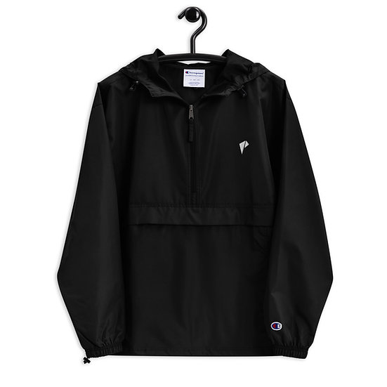 LOGO WHITE  Embroidered Champion Packable Jacket