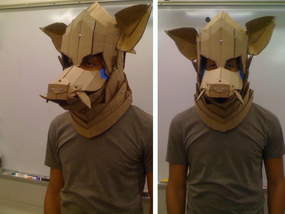 Cardboard Mask 2