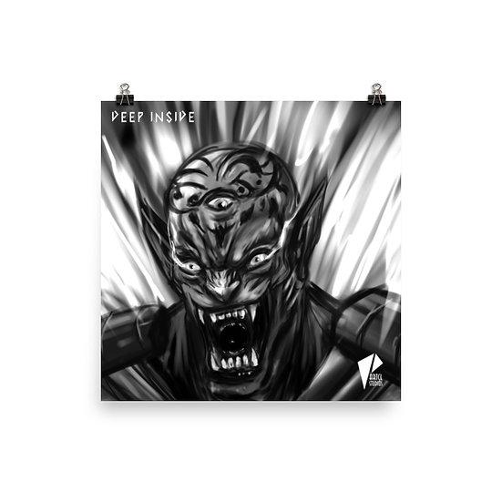 3rd Eye Tiger 10x10 Print