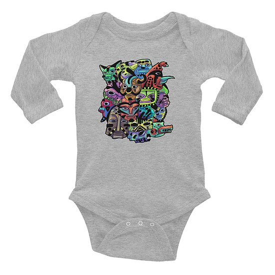 Masks Infant Long Sleeve Bodysuit