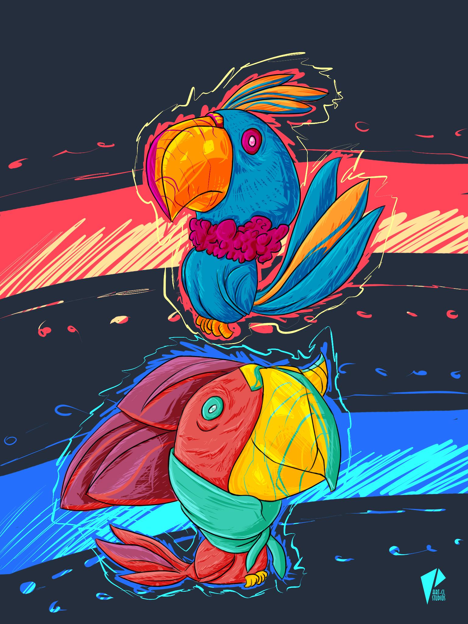 Parrots Piñata