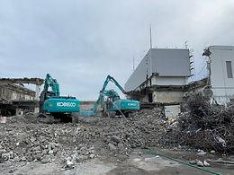 結城市 RC造2階建 大型商業施設 解体工事