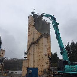 真岡市 某500tセメントサイロ解体工事