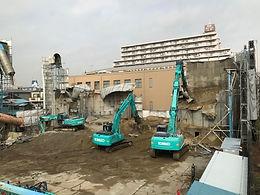 東京都葛飾区 生コンクリートプラント解体工事