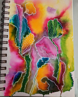 Artistic Doodling on Watercolor 2