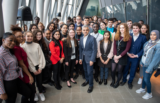 LYA members with Sadiq Khan