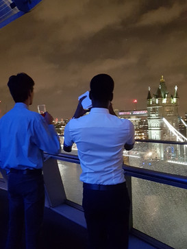 LYA members admiring views at the City Hall International Womens day event