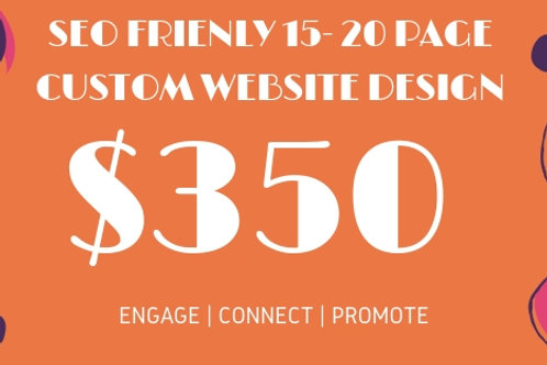 *GET SEO & Adwords Friendly 15- 20 Page WEBSITES FOR ANY BUSINESS AT $350