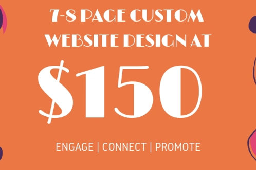 GET SEO & Adwords Friendly 7-8 Page CUSTOM WEBSITES FOR ANY BUSINESS AT $150