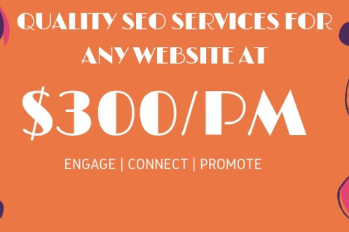 GET Quality SEO Services Done For Any Website AT $300 Per Month