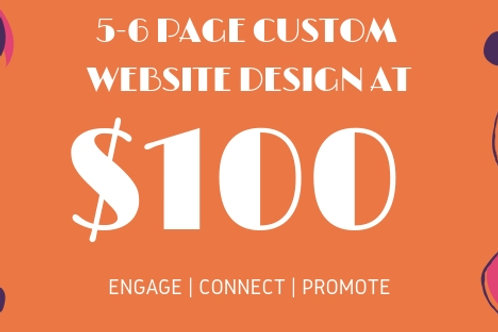 GET SEO & Adwords Friendly 5-6 Page CUSTOM WEBSITES FOR ANY BUSINESS AT $100