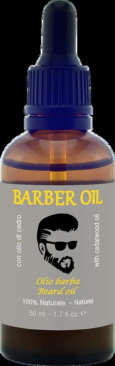 BARBER OIL - Olio barba - con olio di cedro, 100% Naturale