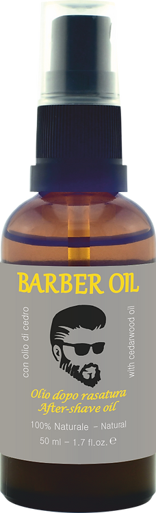 BARBER OIL - Olio dopo rasatura - con olio di cedro, 100% Naturale