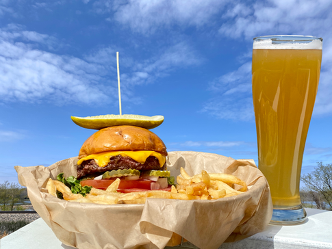 Burger and a beer