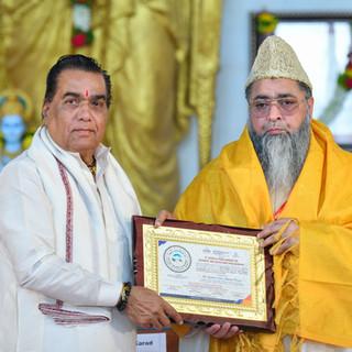 felicitation of Dr. Imam Umer Ahmed Ilya