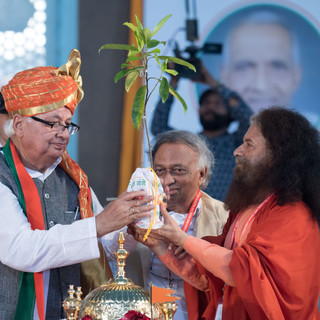 plant gift by H H Pujya Swami Chidanand