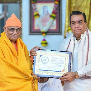felicitation of Swami Nikhileshwara Nand
