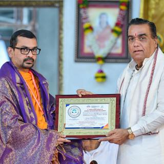 felicitation of Swami Abhishek Brahmacha