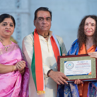 felicitation of Pujya Sadhvi Bhagawati S